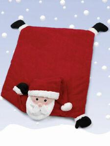 "New - Bearington Baby Collection 30"" Santa Claus Belly Blanket / Christmas"
