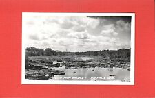 RPPC Jim Falls,Chippewa County,WI Wisconsin View from Bridge nearly dry river