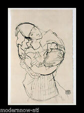 "Egon SCHIELE Lithograph SIGNED #'ed LIMITED Ed.100 ""The Embrace"" +Custom FRAMING"