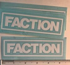 """LOT OF TWO Faction Ski Stickers Vinyl 5.5/"""" DIE CUT Decal Candide Throvex NEW"""