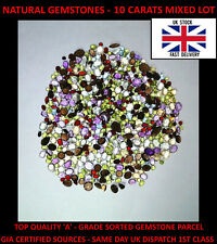 Loose Gemstones Natural Mixed Amethyst, Garnet, Topaz, Peridot 10 Carats
