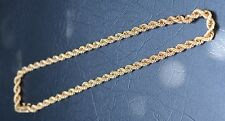 14ct Yellow Gold Rope Twist Necklace
