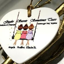 Gifts for her Sister Sis Personalised Names Swing 2 / 3 / 4 Heart Love Unusual