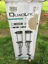 [New] SurPro Sp Quadlock Interlok Magnesium Drywall Stilts 24-40in Sur-Sp-2440Mp