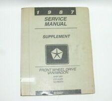 1987 Dodge Ram Van Caravan Voyager FWD Factory Service Manual Supplement #C1