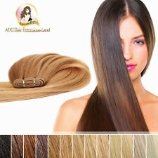 "24"" Real India Remy Weft Hair Extension Double Drawn 50g Brown blonde black"