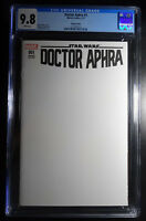 Star Wars Doctor Aphra #1 Sketch Edition Blank Variant Cover Comic CGC 9.8