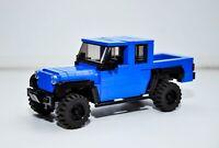 LEGO Jeep Gladiator Hydro Blue Pearl Rubicon SUV Custom Speed Champions MOC