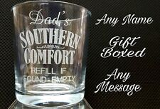 PERSONALISED ENGRAVED SOUTHERN COMFORT GLASS GIFT BOXED SOUTHERN COMFORT WHISKY