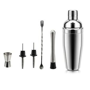 Cocktail Shaker Stainless Steel Mixer Wine Boston Bartender Drink Party Bar Tool