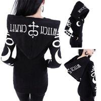 Sweats à capuche pour femme pull style gothique Casual manches longues Hoodies