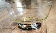 Vintage Glass candy Bowl Sterling Silver Bottom