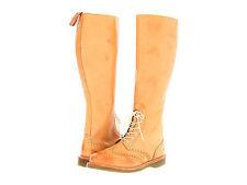 Dr. Martens Women`s Moya 1B60 Style Knee Tall Brogue Sand ALL Sizes! Ret.$300!