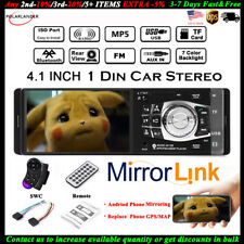 4.1'' Single 1 Din Car MP5 MP3 Player BT FM Radio TF Wheel Control Stereo