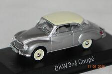DKW 3=6 Coupe 1958 grau-weiß 1:43 Norev neu + OVP 820312