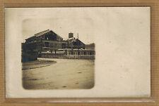 Carte Photo vintage card RPPC halles ou entrepôt en construction bt007