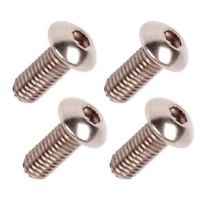 x4 Stainless Steel Bottle Cage Bolts - Low Profile M5 x 12mm