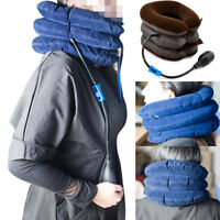 Cervical Collar Neck Relief Traction Brace Support Stretcher Inflatable adjust U