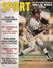 June 1967 Sport Magazine - Willie Mays San Francisco Giants HOF Mario Andretti