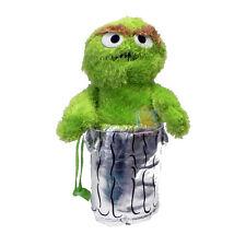 """Sesame Street Oscar 15"""" Plush Doll Backpack, New"""