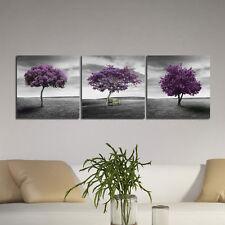 "Canvas Art Print Poster Painting Pic Photo Home Decor Landscape Purple Trees 20"""