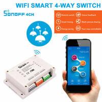 Sonoff 4CH R2 4 Way Mounting WiFI Wireless Smart Switch 433MHZ Remote Ctrl Home
