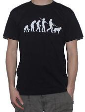 NEW Golden Retriever Evolution T-Shirt - Funny Evolution of Man  Dog Walking Top