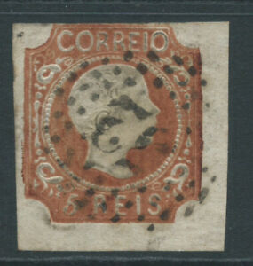 PORTUGAL 1856 SG18a 5r Pedro brown - 3 margins - good used. Catalogue £120