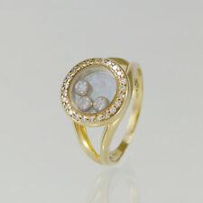 Anello Chopard Happy Diamonds ZUS. ca 0,075ct W/SI diamanti + 750/-18 K. GIALLO
