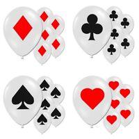 "12"" Latex Party Balloons - Casino / Poker Night / Blackjack / Vegas Theme Decor"