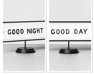 Hearth & Hand Magnolia Good Day Good Night Reversible Sign Black and White