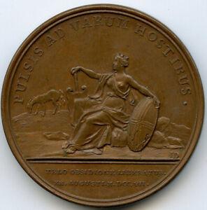Louis XIV Libération de Toulon Médaille 1707