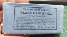 Vintage Black Haw Bark from Steam Drug Mills in Fond Du Lac WIS - New Old Stock