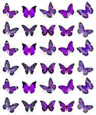 Purple Butterflies Cupcake Toppers Edible Wafer Paper BUY 2 GET 3RD FREE