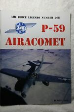 Bell P-59 Airacomet Ginter Publications Air Force Legends 206  Book VGC