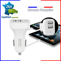 chargeur tel voiture smartphone usb allume cigare double cable iphone samsung ..