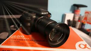TOP Sony Alpha DSLR A200 10.2MP Digitalkamera - Kit mit 18-70mm Objektiv in OVP