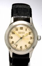 Gruen Military Style Dial Watch | Steel Boys 3/4-Size In New Condition Vintage