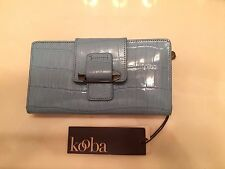 NWT 100% Authentic Kooba Tab Wallet or Clutch in Blue 400 Retail Price $128.00