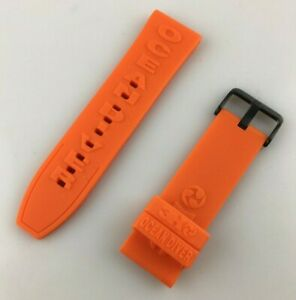 Watch Strap 3H 26MM Rubber Orange Diver Sport New Quality Offer