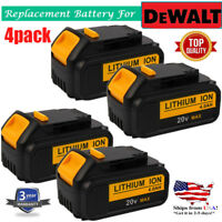 4 X For DEWALT DCB200-2 DCB204 20V Max 4.0Ah 20Volt XR Lithium-Ion Battery Pack
