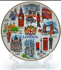 London Ceramic Display Plate With Stand  Showpiece Souvenir Gift in box packing