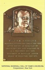 Postcard William Harridge President American League Hall of Fame Cooperstown MNT