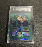 LUKA DONCIC 2019-20 PRIZM #75 GREEN PRIZM BGS 9 MINT DALLAS MAVERICKS
