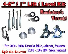 "2000- 2006 Chevrolet GMC 1500  4""-6"" / 1"" Lift Kit Spindles Spacer TOOL + SHOCKS"