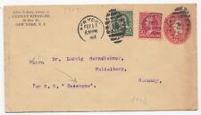 Judaica Usa Old Uprated Postal Stationery Sent To Germany Ship Gascogne 1902