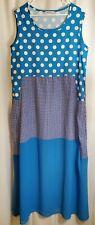 Misslook Women's Blue Night gown Lounger House Dress Sleeveless XL