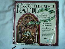 """THE GOOD OLD DAYS OF RADIO"" LP 1974 BURNS FIBBER McGEE US pressing rare ~ EX/EX"
