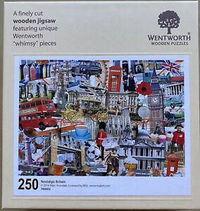 "WENTWORTH ""Nostalgic Britain"" 250 piece Wooden JIGSAW PUZZLE Whimsy"