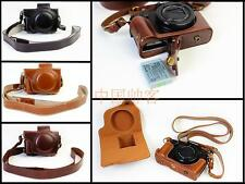 New Leather Camera Bag Cover Case For Canon PowerShot G5X G 5X Bottom Opening